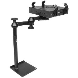 RAM Mounts Universal Laptop-Halterung für Fahrzeuge - Fahrzeug-Basis, Doppel-Schwenkarm, Tough-Tray Halteschale