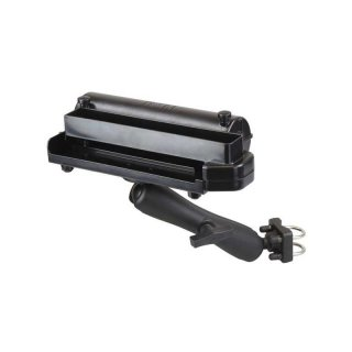RAM Mounts Drucker-Rohrhalterung für Brother PocketJet 7 / 6/6 Plus / 673 - Doppel-Klemmschelle, langer Verbindungsarm, runde Basisplatte (AMPS), C-Kugel (1,5 Zoll)