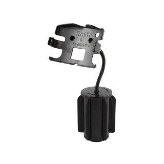 RAM Mounts RAM-A-CAN II Verbundstoff-Halterung für TomTom 720/920 - für Fahrzeug-Getränkehalter, Basis mit Gummilippen, flexibler Arm (ca. 150 mm), im Polybeutel