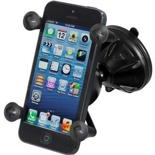 RAM Mounts Mighty Buddy Saugfusshalterung mit X-Grip Universal Halteklammer für Smartphones - im Polybeutel